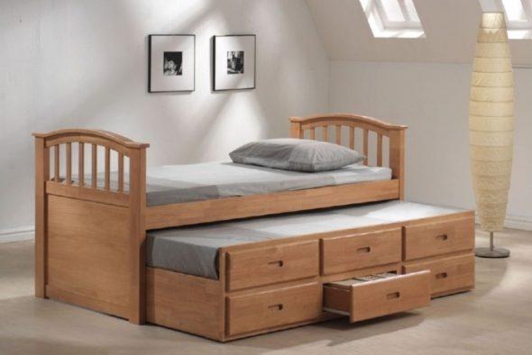 выкатная кровать с ящиками