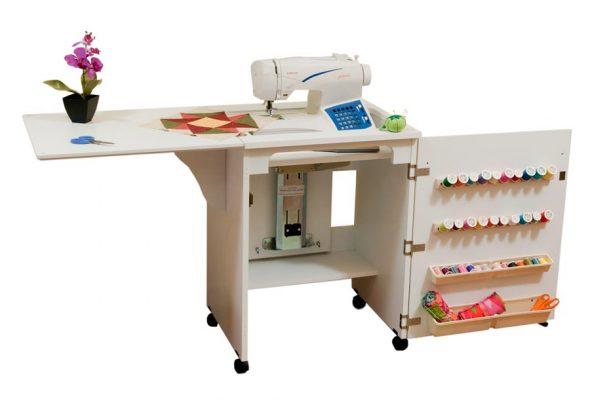 белый стол для швейной машины