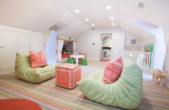 бескаркасная мебель салатовые кресла
