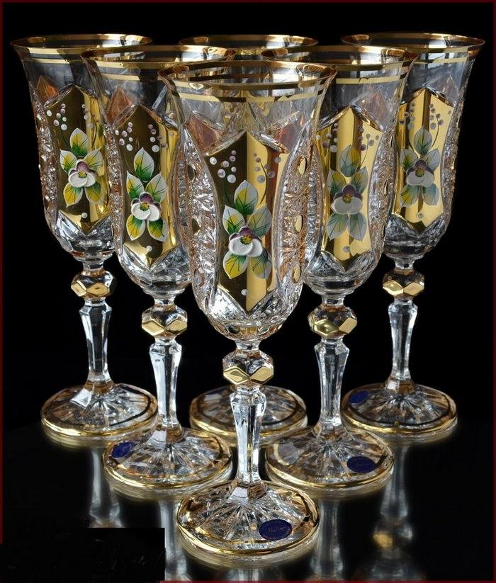 богемский хрусталь бокалы