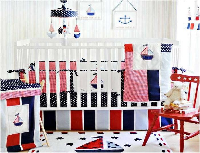 бортики в кроватку в детской комнате