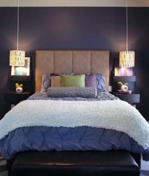 бра в спальне над кроватью
