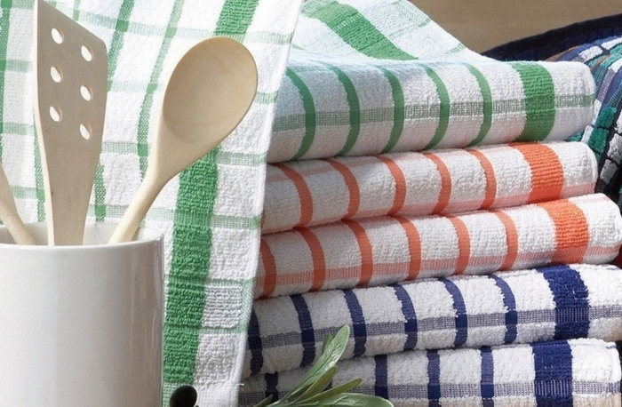 чем отстирать кухонные полотенца