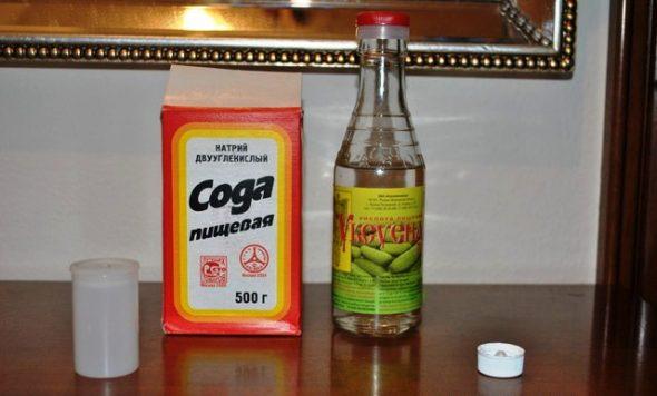 чистка содой и уксусом
