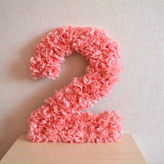 цифры и буквы из салфеток идеи оформление