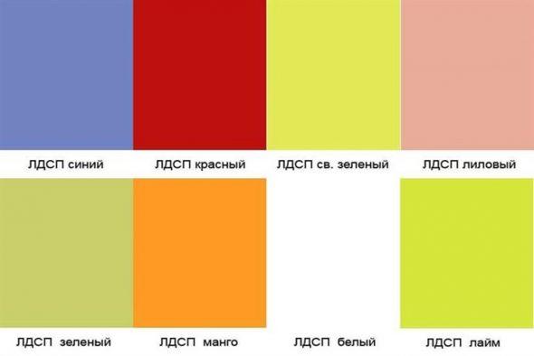 Цветные листы ЛДСП для красивой и яркой мебели
