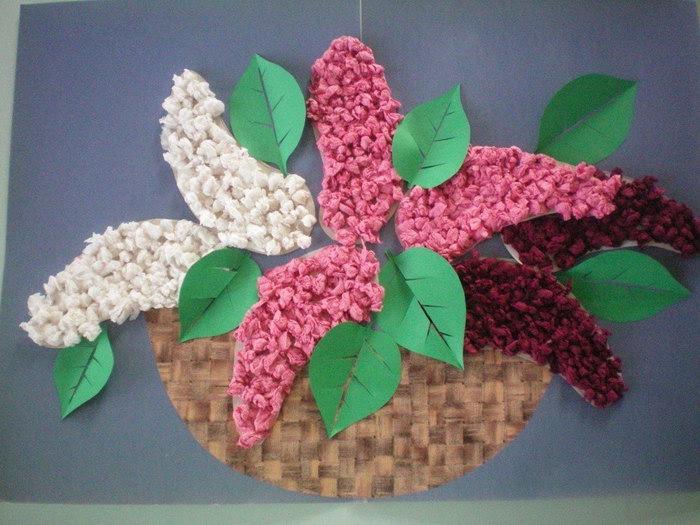 цветы из бумажных салфеток идеи оформления