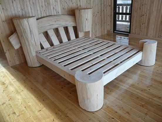 Делаем кровать из дерева своими руками.