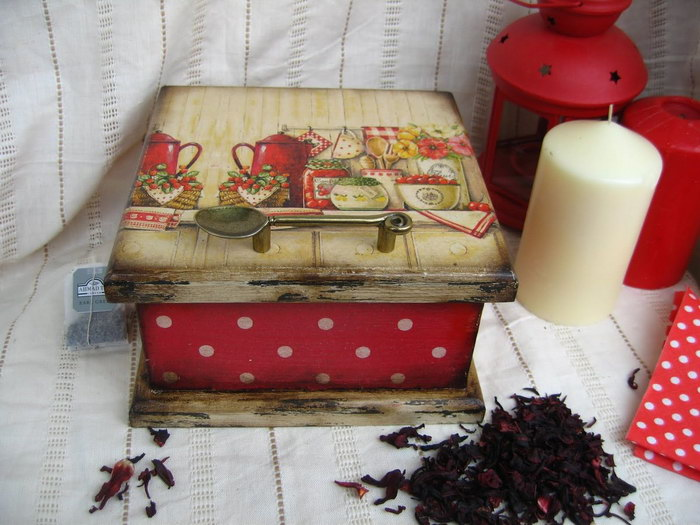 декор коробки для кухни