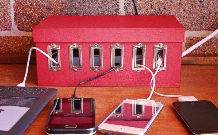 декор коробки для зарядок
