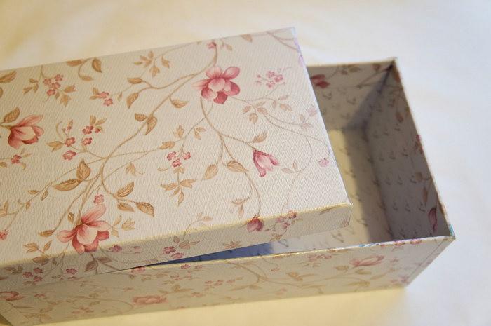 декор коробки обоями