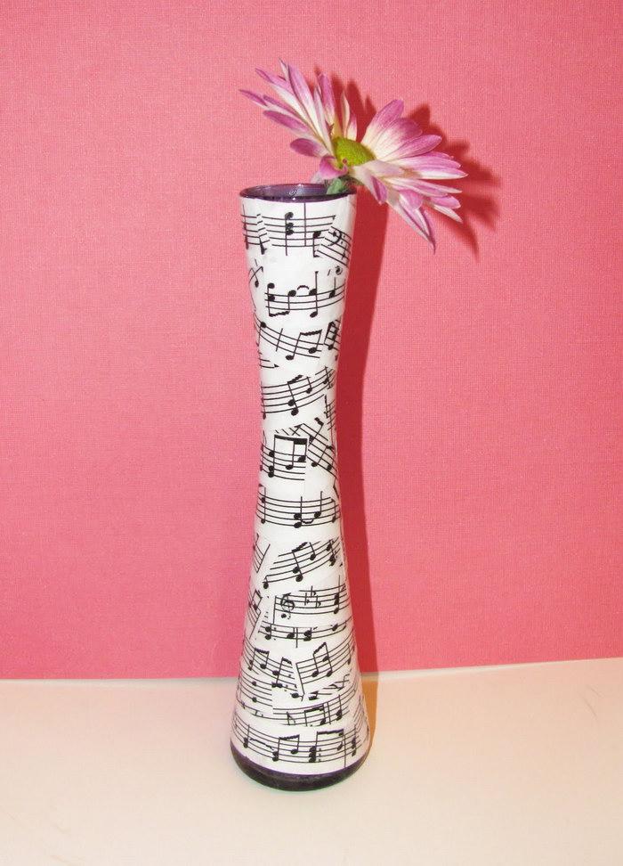 декор вазы декупаж