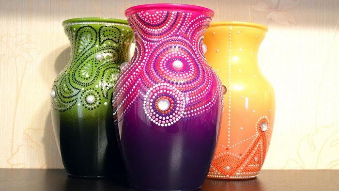 декор вазы пике