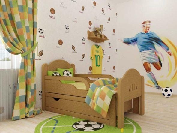 Деревянная кровать детская раздвижная