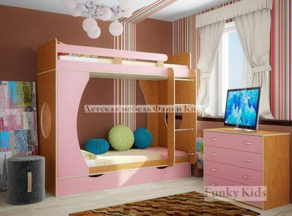 детская двухэтажная кровать с диваном