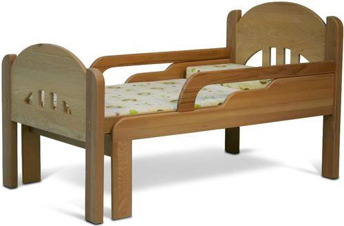 Детская кровать раздвижная из бука