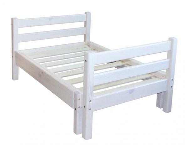 Детская раздвижная кровать белая