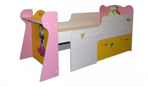 Детская раздвижная кровать для принцесс