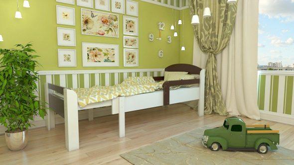 Детская раздвижная кровать ростушка эконом
