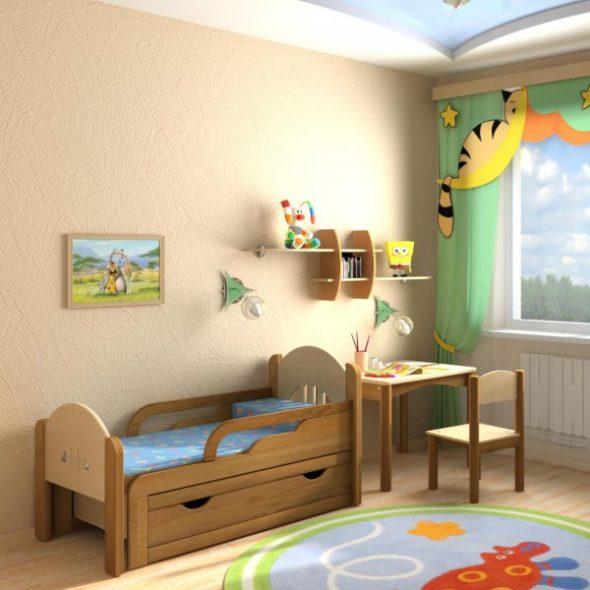 Детская с раздвижной кроватью