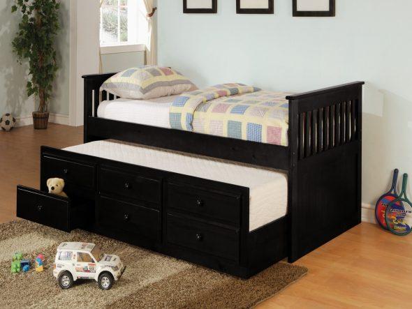 детская выкатная кровать
