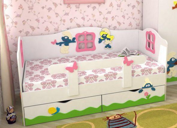 детские кровати с бортиками