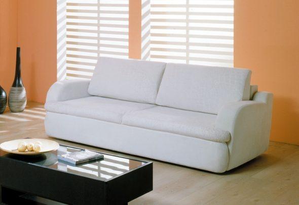 диван еврокнижка раскладной белый