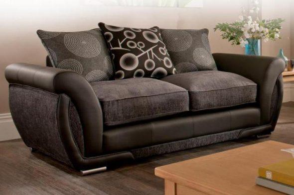 диван из искусственной замши