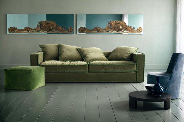 диван из замши