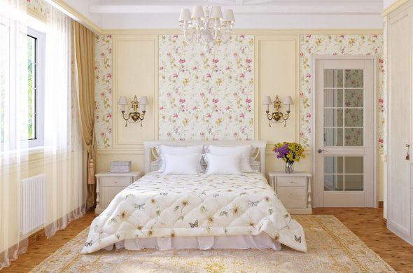 бра в спальне прованс