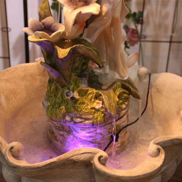 домашний фонтан с подсветкой