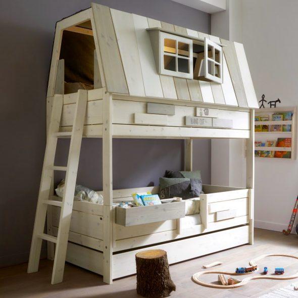 двухуровневый домик кровать