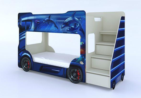 Двухэтажная кровать-автомобиль