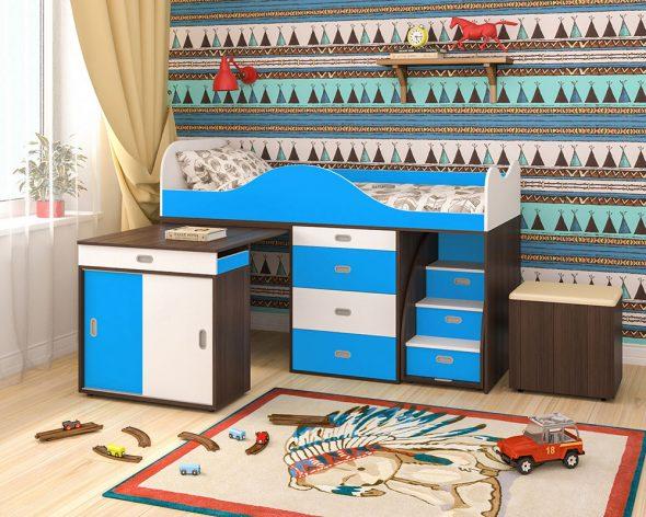 детская кровать чердак со столом