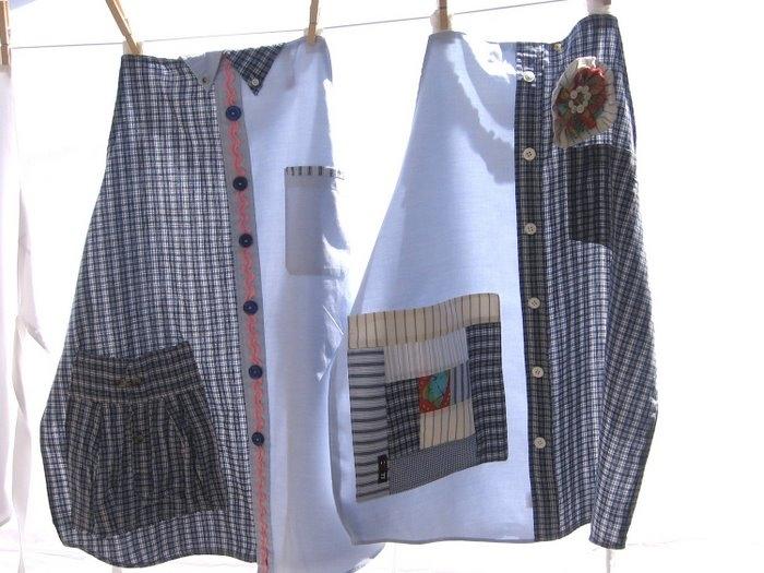 фартук из мужских рубашек
