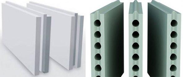 Гипсолитовые блоки 2 видов