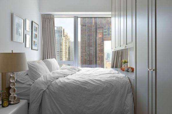 Интерьер маленькой спальни в скандинавском стиле