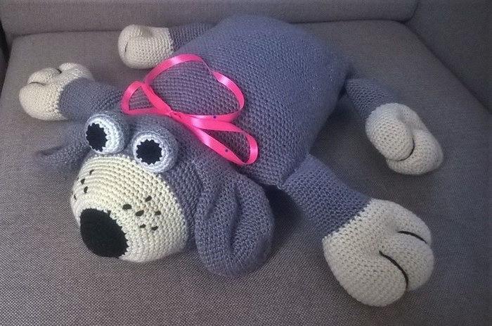 интерьерная собака подушка