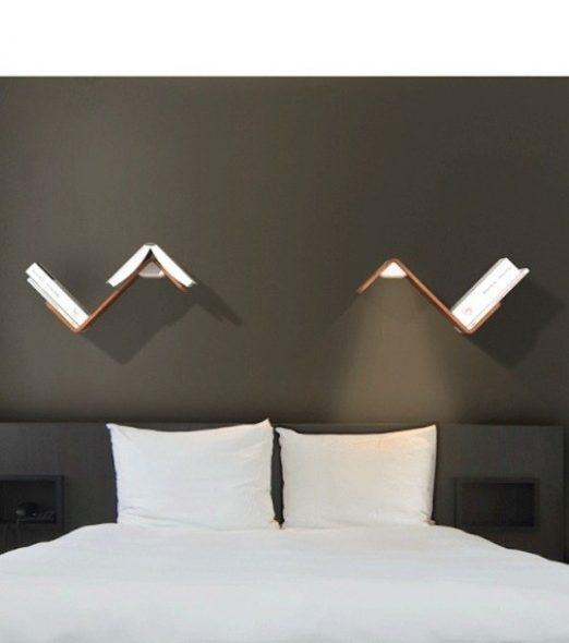 Как сделать полку над кроватью стильно