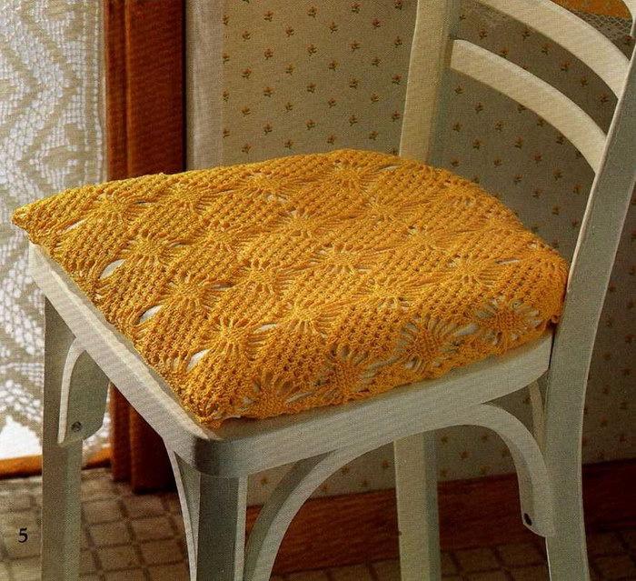 как связать чехол на стул