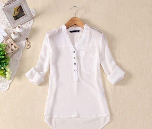 Нежная накрахмаленная блузка