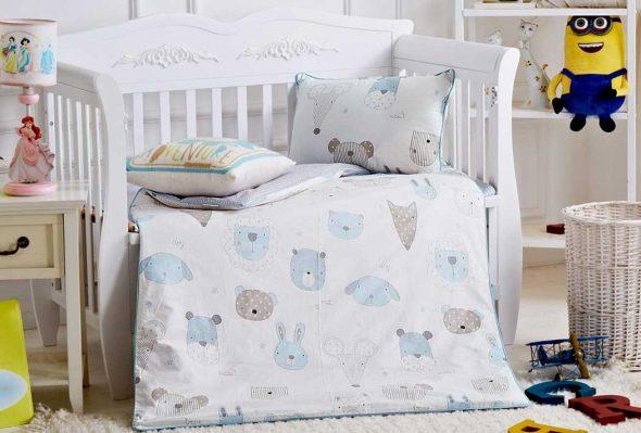 Энималс- комплект детского постельного белья сатин