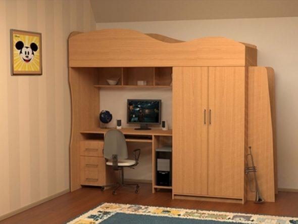Комплект мебели из ЛДСП с фактурой под дерево