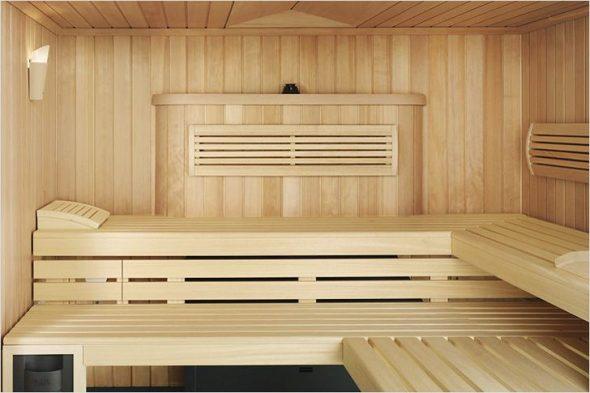 Конструкция полки для бани