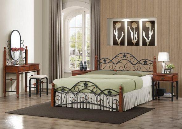 кованые кровати в современном интерьере