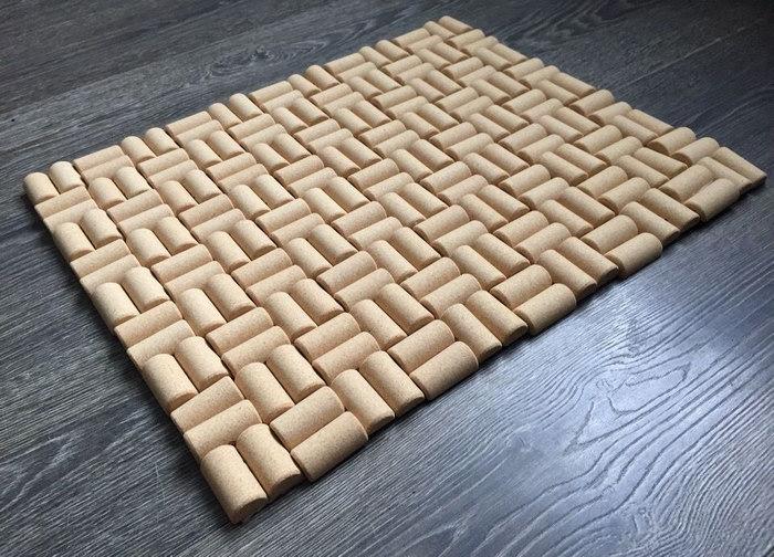 коврик из пробок дизайн фото