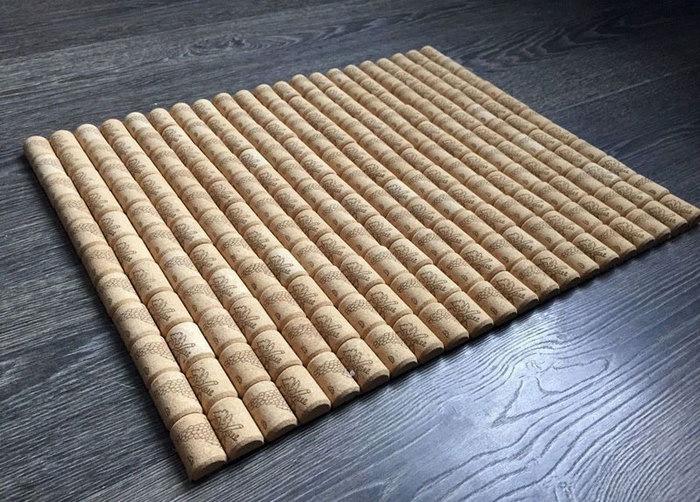 коврик из пробок фото