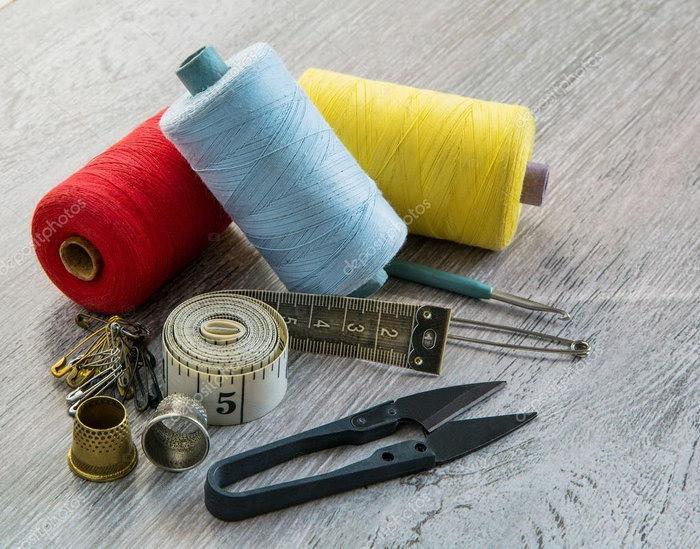 коврик из трикотажной пряжи инструменты
