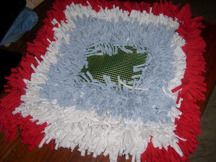 коврик своими руками на сетке