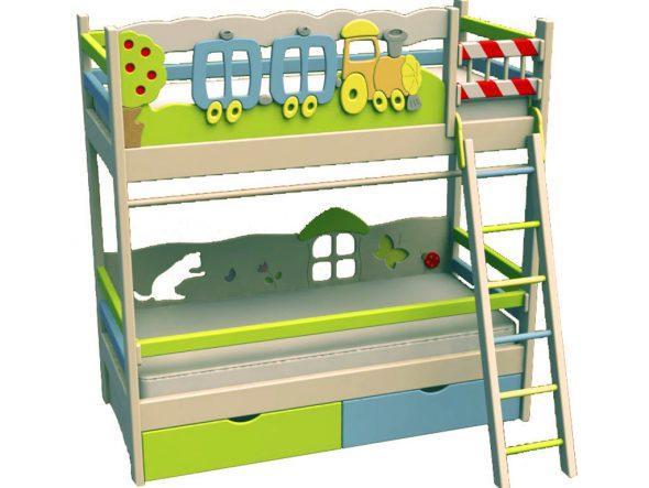 Красивая детская кровать из МДФ